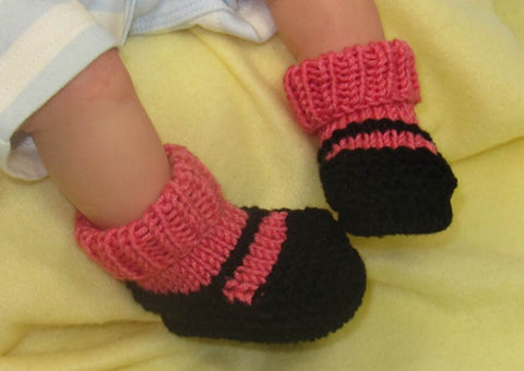 Baby Sock and Slipper Booties by MadMonkeyKnits (1020) - Digital Version