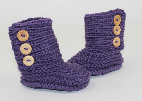 Baby Unisex Booties by MadMonkeyKnits (1057) - Digital Version