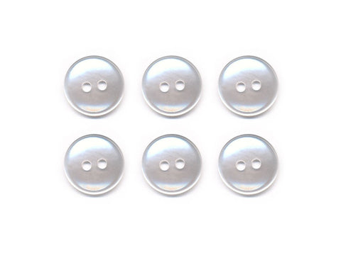 Round Plastic Button - Clear - 010