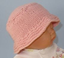 Baby and Child Simple Bucket Hat by MadMonkeyKnits (862) - Digital Version