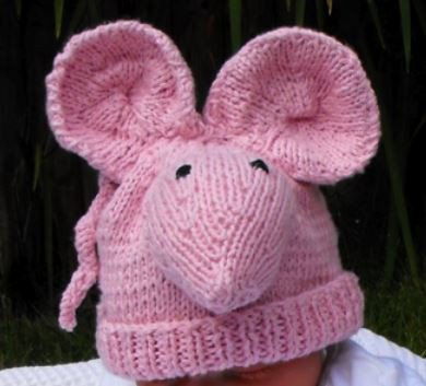 Big Ears Sugar Mouse Beanie Hat by MadMonkeyKnits (6) - Digital Version