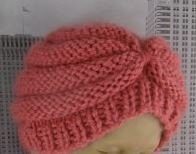 Baby Chunky Beehive Turban Hat by MadMonkeyKnits (526) - Digital Version