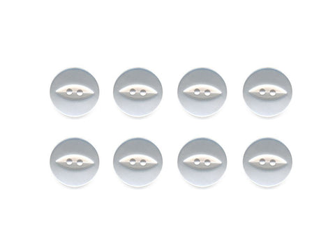 Fish-Eye Buttons - White - 003
