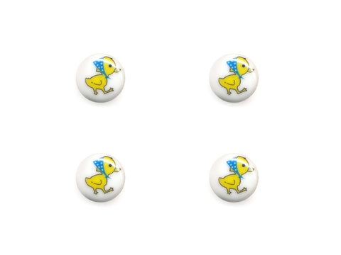 Round Novelty Buttons - Duckling - 034