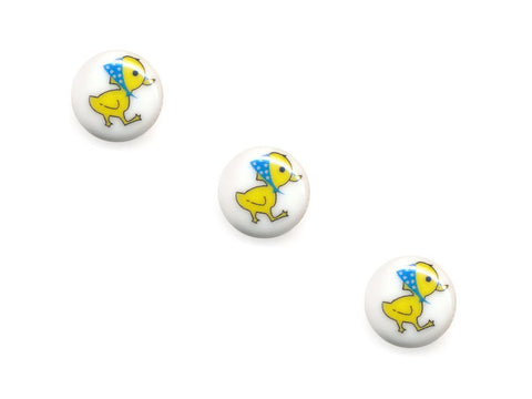Round Novelty Buttons - Duckling - 035