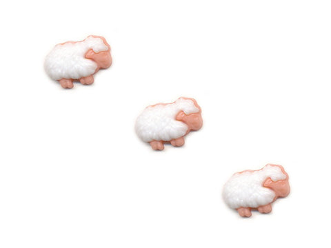 Sheep Shaped Novelty Buttons - White - 086
