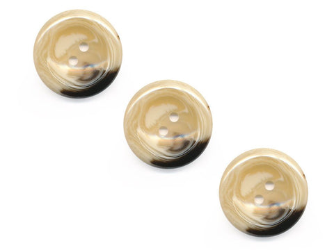 Round Shell Effect Buttons - Beige - 233