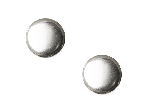 Round Metal Buttons - Silver - 273