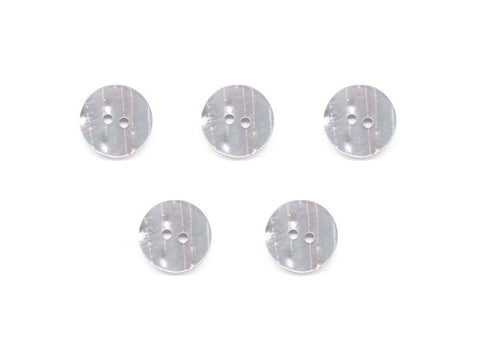 Round Two-Tone Texture Effect Buttons - White/Pink - 311