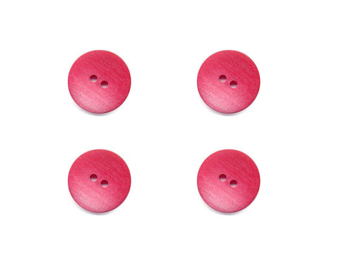 Wood Effect Buttons - Pink - 384
