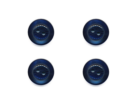 Round Petal Detail Buttons - Blue - 436