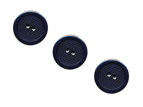 Round Plastic Textured  Button - Blue - 461