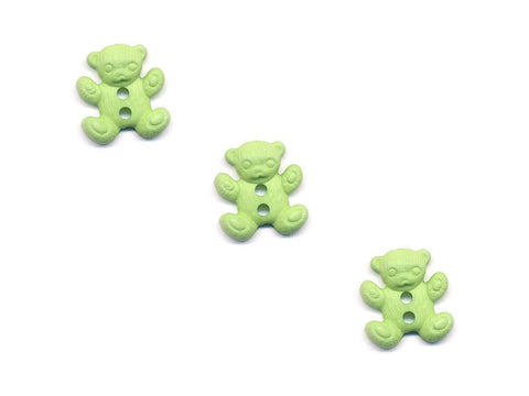 Teddy Bear Shaped Buttons - Green - 495