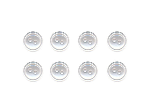 Translucent Rimmed Round Buttons - Clear - 847