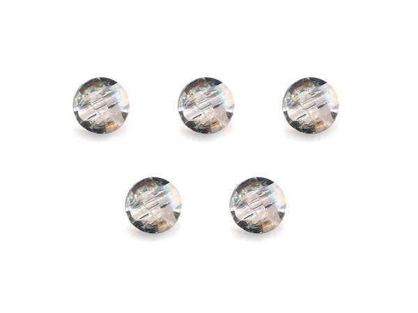 Diamond Effect Buttons - Clear - 884