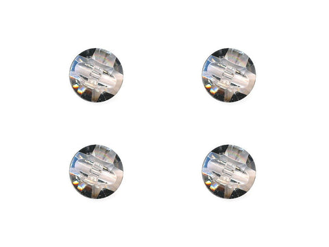 Diamond Effect Buttons - Clear - 885