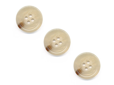 Rimmed Shell Effect Buttons - Beige - 085