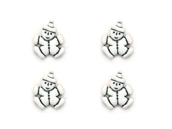Clown Shaped Buttons - White - 952