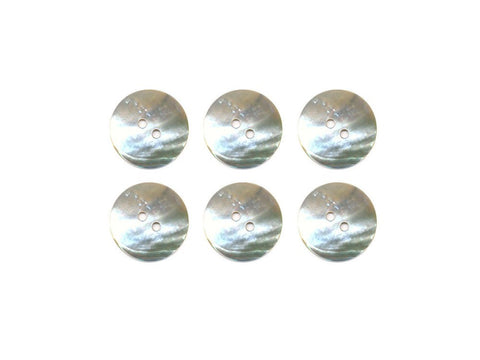 Round Shell Buttons - Silver - 983