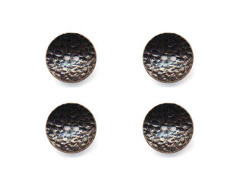 Concave Metal Textured Buttons - Bronze - 992
