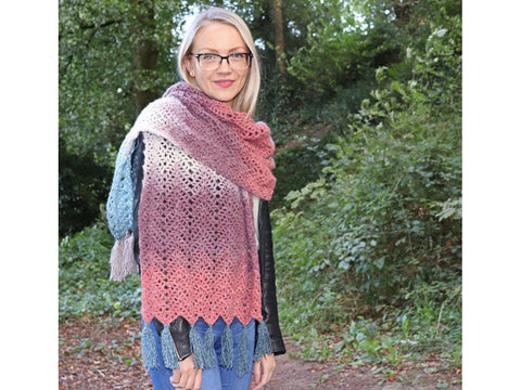 Omna Shawl by Carmen Heffernan in King Cole Curiosity