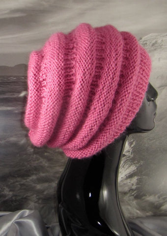 Chunky Beehive Slouch Hat by MadMonkeyKnits (517) - Digital Version