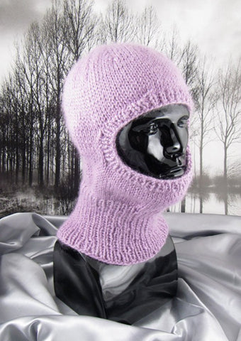 Chunky Biker Balaclava by MadMonkeyKnits (0473) - Digital Version