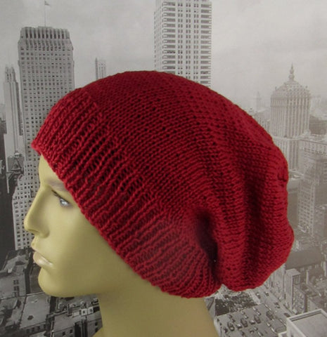 City Slouch Hat by MadMonkeyKnits (529) - Digital Version