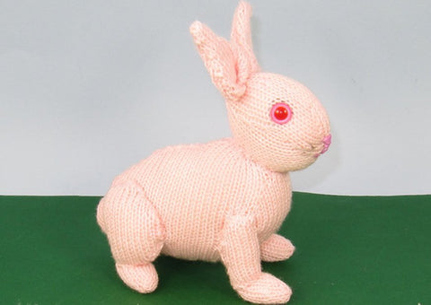 Cute Baby Bunny Toy animal by MadMonkeyKnits (886) - Digital Version