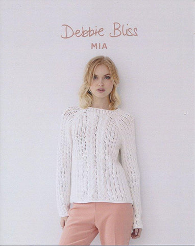 Cable and Eyelet Sweater in Debbie Bliss Mia (DB074)-Deramores