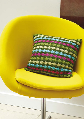 Dot Stripe Cushion in Rowan Pure Wool Worsted - Digital Version