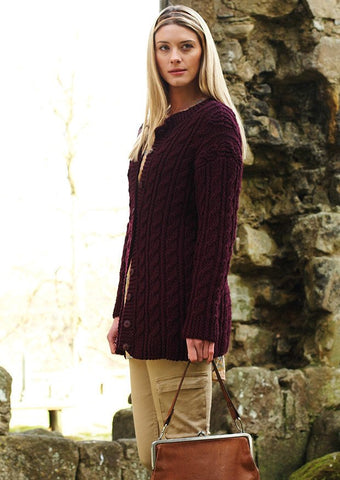 Twisted Cable Cardigan by Debbie Bliss - Digital Version