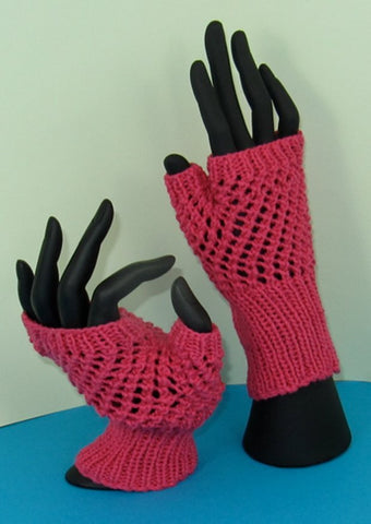 Easy Lace Fingerless Gloves by MadmonkeyKnits (750) - Digital Version