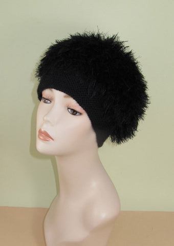 Faux Fun Fur Tam Hat by MadMonkeyKnits (909) - Digital Version