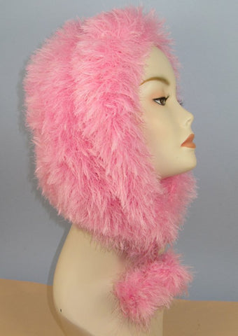 Faux Fun Fur Bonnet by MadMonkeyKnits (917) - Digital Version