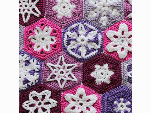 Festive Snowy Blanket Crochet Kit and Pattern