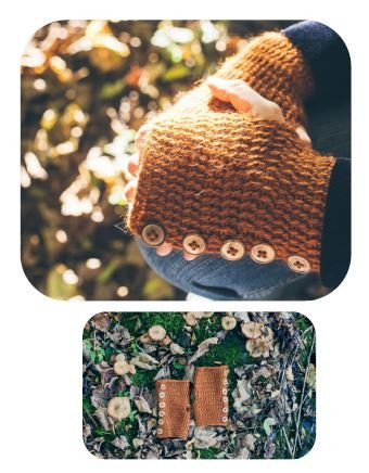 Forest Forager Handwarmers by Kat Goldin - Digital Version