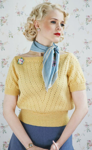 The Jan Sweater in Susan Crawford Excelana 4 Ply - Digital Version