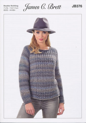 Sweater in James C. Brett Marble DK (JB376)