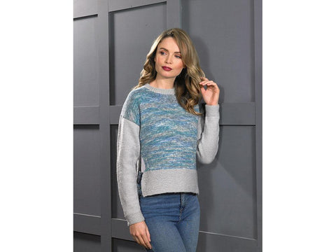 Sweater in James C. Brett Stonewash DK (JB606)