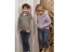 Hooded Sweaters in James C. Brett Rustic Aran (JB627)