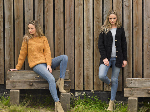 Sweater and Jacket in James C. Brett Norske Chunky (JB639)