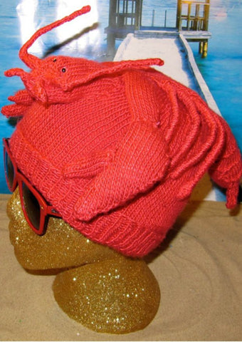 Lobster Beanie by MadMonkeyKnits (129) - Digital Version