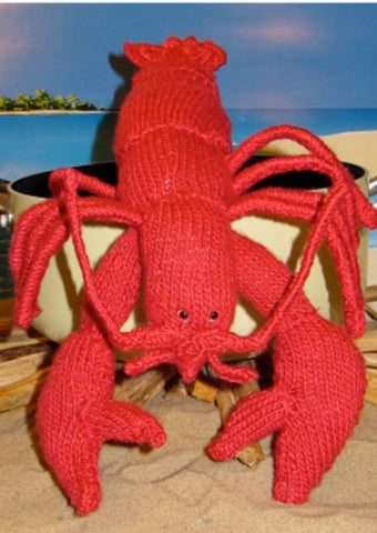 Lottie Lobster Toy by MadMonkeyKnits (00001) - Digital Version