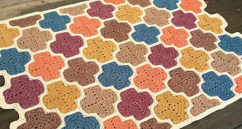 Meandering Lattice Blanket Crochet Kit and Pattern in Scheepjes Yarn