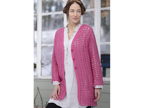 Women's Crochet Cardigan Crochet Kit and Pattern in Novita Yarn