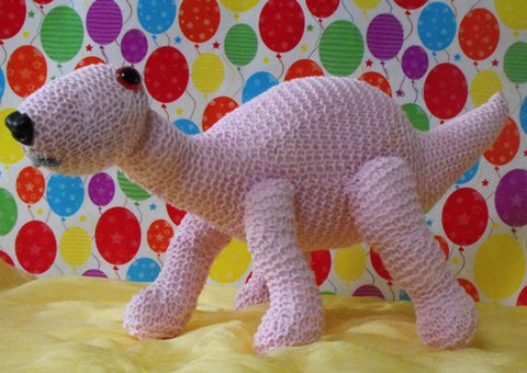 Nursery Donny The Baby Dinosaur by MadMonkeyKnits (5) - Digital Version