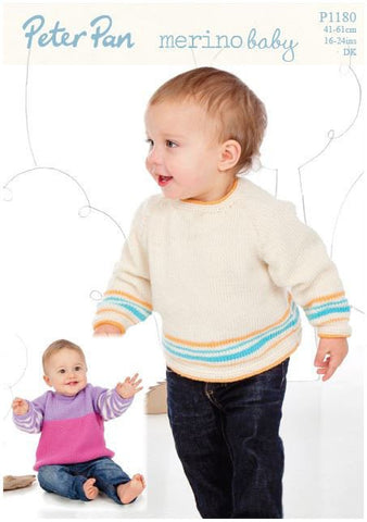 Raglan Sweaters in Peter Pan Merino Baby DK (P1180) Digital Version