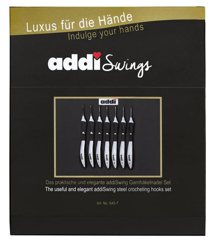 Addi Swing Crochet Hook Set with Hooks 0.5-1.75mm-Deramores