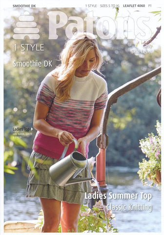 Ladies Summer Top in Patons Smoothie DK (4060)